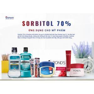 Sorbitol 70% DS dùng cho mỹ phẩm